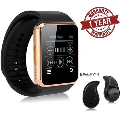 Premium Design Apple iPhone 7 Plus Compatible Bluetooth Smart Watch GT08 Phone With Camera and Sim Card & SD Card Support with free Bluetooth Shower Speaker (Random Colour)