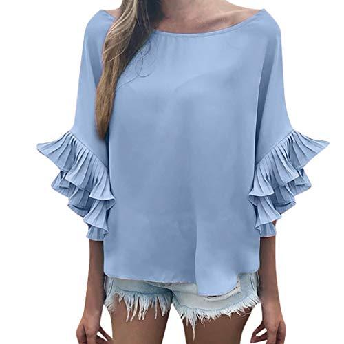 SSUPLYMY Mode Kalte Schulter Bluse Geometrischer Blumendruck Off Shoulder Jumper Damen Freizeithemd Sommer Einfarbig Hemd Frauen Beiläufiges Kurzes Hülsen Oansatz Kurzes T-Shirt