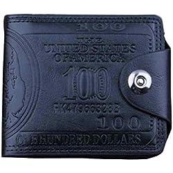 f2bdbd138 BaZhaHei-Cartera Carteras Hombre Billetera de dólar Estadounidense Billetera  Billetera Billetera Cuero marrón Foto Billetera
