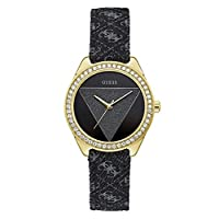 Guess Fashion Watch for Women, Stainless Steel Case, Black Dial, Analog -W0884L11