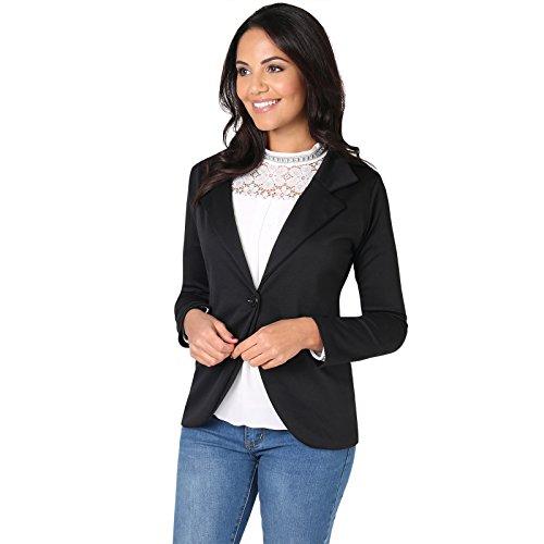 KRISP Damen Business Blazer Jacke aus Weichem Stoff
