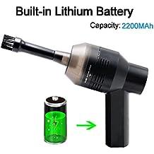 UKHONK - Mini aspiradora inalámbrica recargable para teclado de ordenador con batería de litio para limpiar el polvo, migas de pan, rasguños de papel, gomas de borrar, cenizas de cigarrillos, dispositivos de coche, casa de mascotas