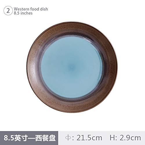 Ofenwechsel Western Restaurant Steak Platte Kreative Keramikplatte Personalisierte Geschirr 21,5X3 Cm