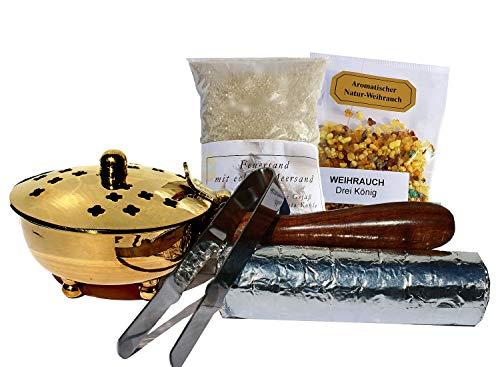 Incienso Sartén-Juego de incienso ahúma Incienso, aromáticas, incluye Incienso, Carbón,...