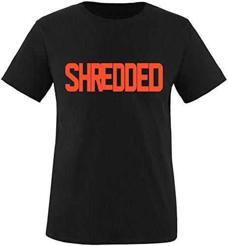 EZYshirt® Shredded Herren Rundhals T-Shirt Schwarz/Orange