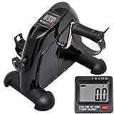 mini bike trainer heimtrainer pedaltrainer arm und beintrainer trainingsgerät fitnessgerät mit lcd-monitor einstellbarer widerstand fahrradtrainer fitness-fahrrad (Schwarz)