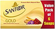 Santoor Gold Soap with Saffron, Sandal & Sakura Extracts, 125g (Pack o