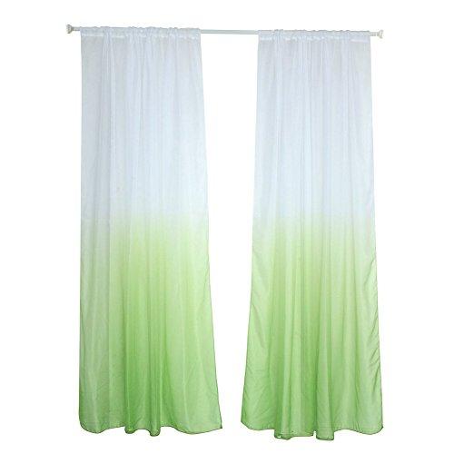 Alexsix Moderne Farbverlauf Fenster Tul Vorhang Sheer Drape Bordüre Schlafzimmer Tür Dekoration Zuhause grün
