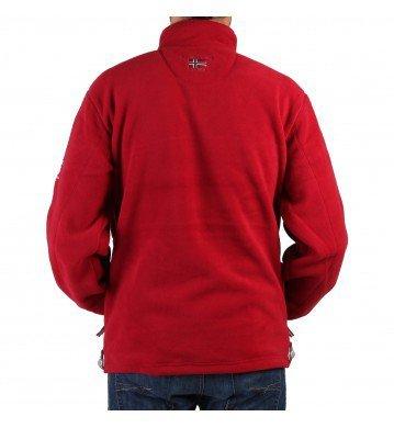 Geographical Norway Herren Korleon Sweatshirt mit Reißverschluss (S) (Maroon)
