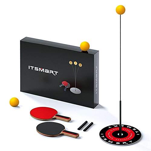 Williamly Verbesserter Paddle-Tennis-Bounce-Trainer, Auto-Rebound-Ausrüstung Für Das Tischtennistraining, Flexibler, Schneller Ping-Pong-Ball-Trainer Mit 2 Tischtennisschlägern Und 3 Bällen
