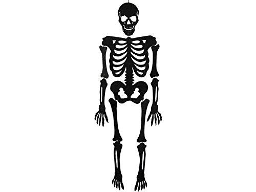 Skelett Schwarz Eva mit glanz 155 cm.