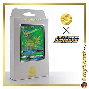 Viridium-GX (Virizion-GX) 197/214 Full Art - #myboost X Sonne & Mond 8 Echo Des Donners - Box de 10 Cartas Pokémon Alemán