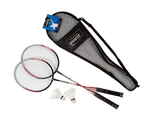 AK Sport 0726115 SportX Set de badminton Noir