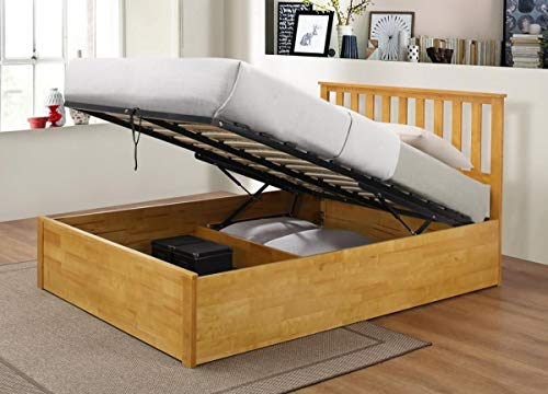 Kelsey Stores Wooden Ottoman Storage Bed Double Storage Bed Zoe