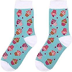 2 pares de calcetines de algodón respirable de estilo navideño calcetines cortos elásticos y cómodos para mujeres (color 3)
