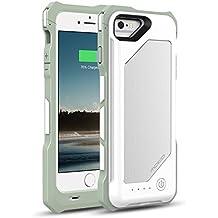 [Apple MFi Zertifiziert] MoKo 3500mAh Power Bank Akku Hülle Aufladbare Externe Batterie Ladehülle Backup Accu Charging Smart Battery Case Cover für Smartphone Apple iPhone 6 4.7 Zoll,Weiß