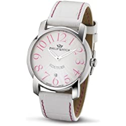 Philip Ladies Couture Analogue Watch R8251198615 with Quartz Movement, Silver Dial and Stainless Steel Case