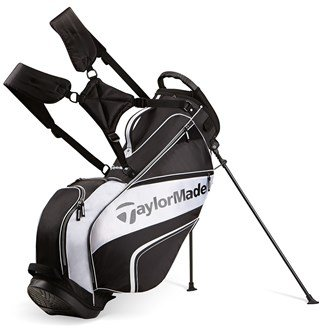TaylorMade 2016 Pro Stand 4.0 Stand Bag Mens Carry Golf Bag 5-Way Divider Black/White