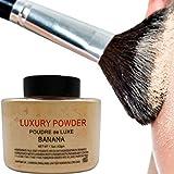 Leoie Natural Matte Banana Face Powder Loose Face Powder for Setting Makeup or