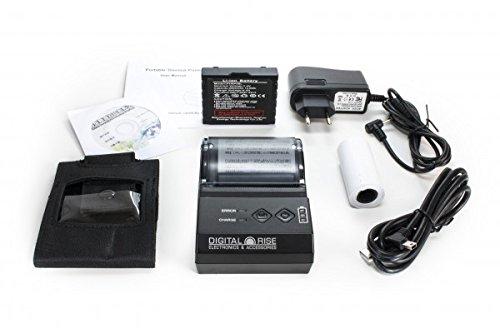 Neue Version V2! Tragbarer Bluetooth Thermodrucker für 58mm Rolle inkl. Gürteltasche! (Bondrucker POS Drucker Wireless Kassendrucker Drucker Thermo Quittungsdrucker Thermal Dot Receipt Printer)