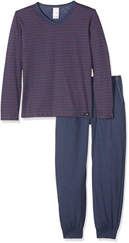 Skiny Jungen Zweiteiliger Schlafanzug Independent Sleep Pyjama Lang, Mehrfarbig (Ombreblue Stripe 086153), 152 (Pyjama Stripe Baumwolle)