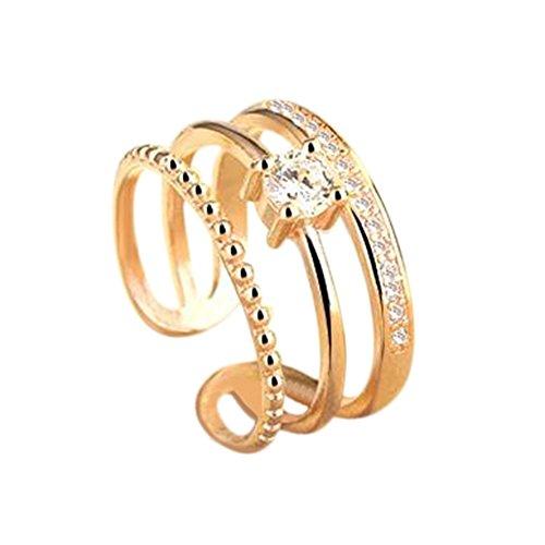 Mode Geometrische Kristall Ring Schmuck Verstellbare Ringe Hochzeit Bankett Festliche Geschenke Souvenir (Herr Der Ringe Party Supplies)