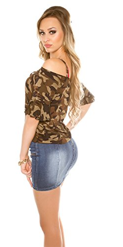 Camouflage Coldshoulder Shirt Tarnmuster