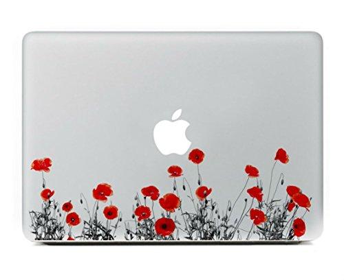 Sticker pour Macbook, Stillshine New Fashion Creative Art Decal Autocollant pour Apple MacBook Pro / Air 13 Pouces pour Ordinateur portable (fleur rouge)