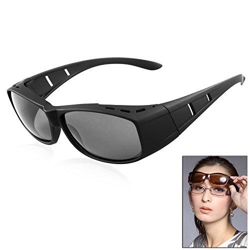 Sonnenbrille Polarisiert Unisex Brille Überbrille für Brillenträger,{Sonnenüberbrille über normale Brillen} sunglasses Fit Over Glasses Brille Herren Damen (Brille Männer Rezept)