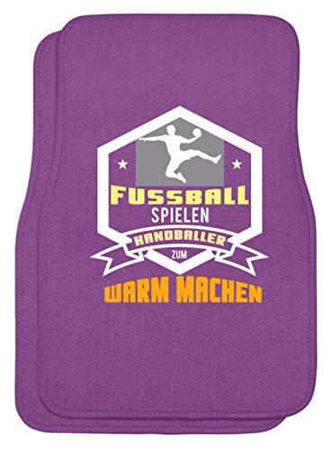 Schuhboutique Doris Finke UG (haftungsbeschränkt) Fußball spielen Handballer zum warm mach - Automatten -44x63cm-Lila