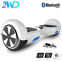 2WD Hoverboard 6.5 Pulgadas Monopatín Patinetes eléctricos Self-Balanced Scooter eléctrico UL2272 Certificado con Altavoz