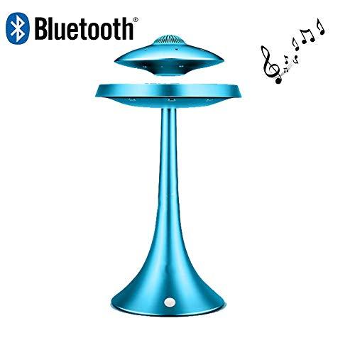 LIRONG UFO Magnetic Suspension Lautsprecher Sieben Farbe Drahtlose Bluetooth Stereo Lautsprecher 1200 mAh Mode Kreative Geschenk,Blue
