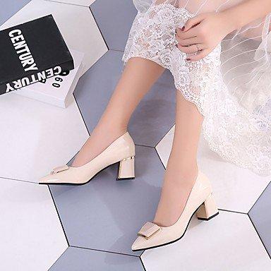 RTRY Donna Luce Tacchi Suole Estate Autunno Pu Abbigliamento Casual Blocco Tacco Beige Nero 2A-2 3/4In US7.5 / EU38 / UK5.5 / CN38