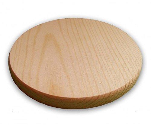 4er-Set Untersetzer, Glasuntersetzer rund aus Holz, Kiefer unbehandelt