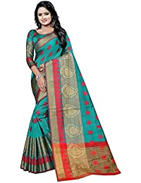 satyam Weaves women's ethnic wear banarasi cotton silk saree. (vandana)