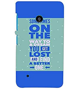 NOKIA LUMIA 530 QUOTE Back Cover by PRINTSWAG