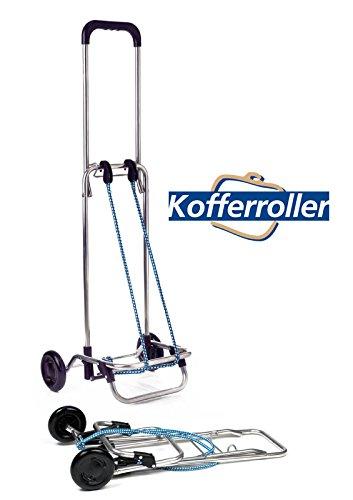 Original Andersen Kofferroller | Sackkarre mit Spanngurt für Koffer, Getränkekisten & Kartons | Transportwagen klappbar | Gr L