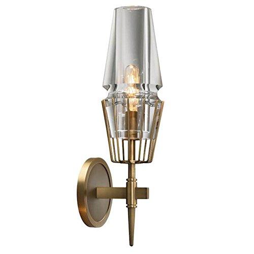 DENG Appliques Cristal Métal Or LED Moderne Industriel E14 Abat-Jour Chevet Intérieur Éclairage Fixation