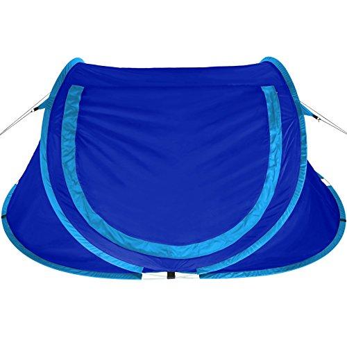 BB SPORT Pop-Up Zelt NESSY Wurfzelt für 2 Personen Wassersäule 3000 mm, Farbe:Wild Blue