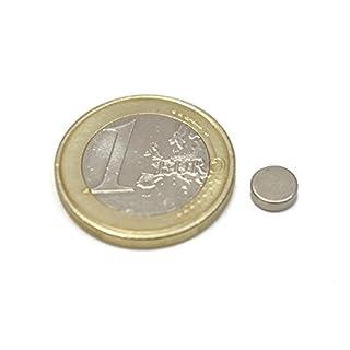 Aimangz - 100 Neodymmagnete Scheibe, Maße 0,6 x 0,2 cm