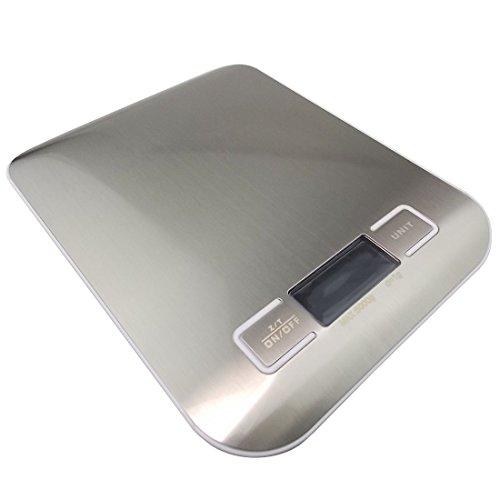 JJOnlineStore - Digitale Küche Lebensmittel Skala Gewicht für Gemüse, Obst, Backen, Multifunktionswaage, 18x14x1,5 cm (Max=5kg)