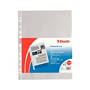 ESSELTE Buste perforate DELUXE - PPL antiriflesso - f.to 22 x 30 cm - 395097600 3 spesavip
