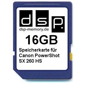 DSP Memory Z-4051557369900 16GB Speicherkarte für Canon PowerShot SX 260 HS