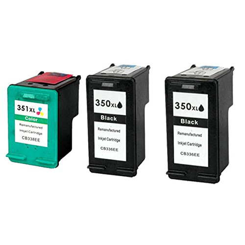 PerfectPrint - 3 cartuchos de tinta de impresora compatible HP 350XL 3