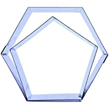 72fe75d9eb3 Football gâteau (hexagonale et Pentagone) Emporte-Pièces – Différentes  tailles disponibles pour s