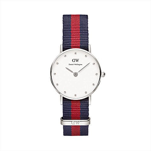 Daniel Wellington Ladies Watch LADY XS Classy Oxford Nylon 0925DW SILVER Analogue Quartz