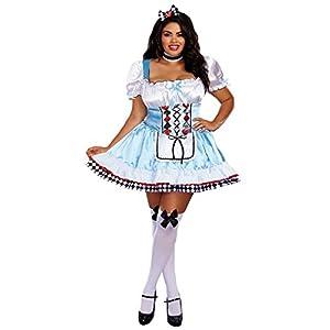 DreamGirl-Disfraz de 10668X más allá de país de las maravillas, 2x -Large