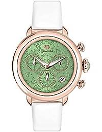 Glam Rock Bal Harbour Damen-Armbanduhr 40mm Armband Satin Weiß Batterie Zifferblatt Grün Analog GR77109N