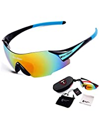 2c1cb2cb92 black blue   WOSAWE UV400 Cycling Glasses For Men 3 colors Women s Outdoor  Sports Bike Bicycle Windproof Sunglasses 1 Lens with…