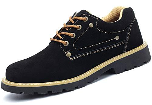 RSHENG Schuhe/Stiefel Für Arbeitsschuhe Der Männer Aus Stahlkappe Anti-Zertrümmern Anti-Piercing Arbeitsschutz Sicherheitsschuhe,Black2-43EU - Niedrig Skateboard-schuhe